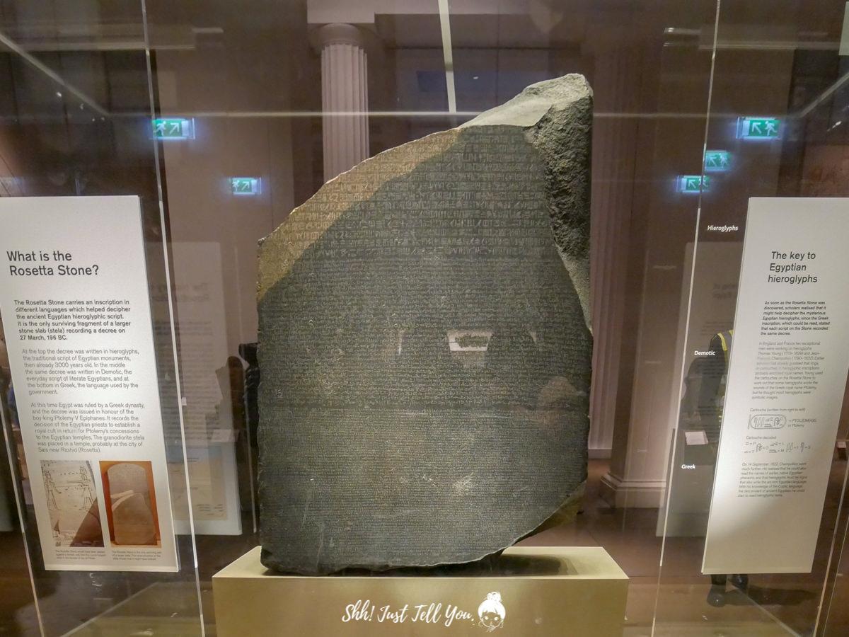 大英博物館 british museum 鎮館之寶羅塞塔石碑Rosetta Stone
