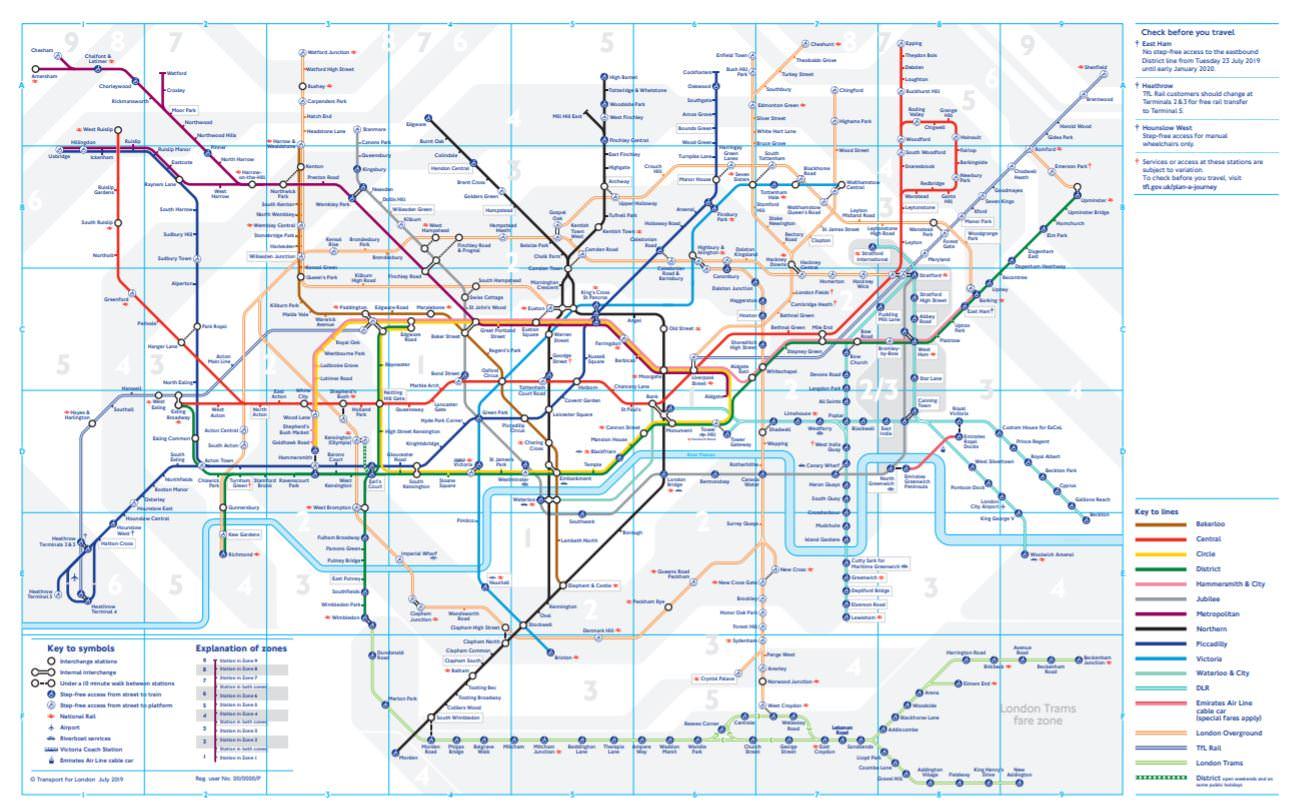 英國倫敦地鐵圖