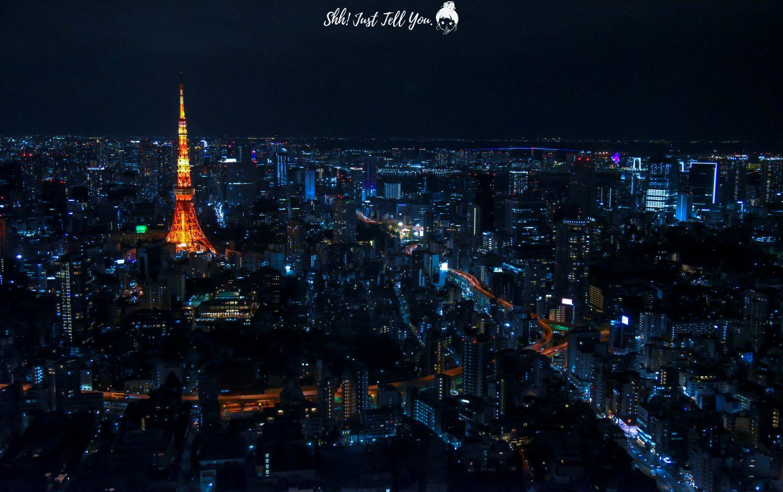 六本木森大樓、森美術館東京鐵塔夜景 天空鐵道物語