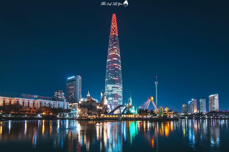韓國石村湖夜景