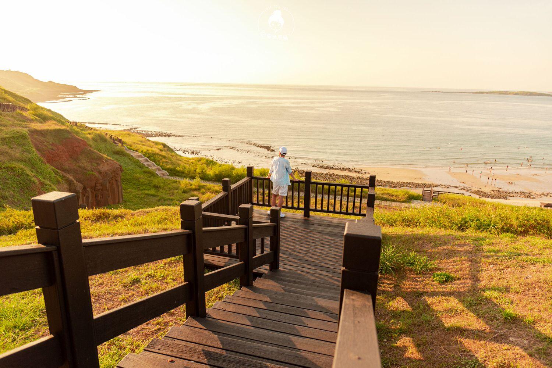 澎湖、西嶼|內垵沙灘,太陽將它那每日僅剩的美好灑落人間